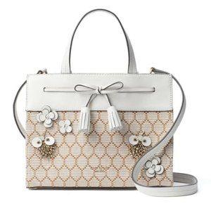 Kate Spade embellished bee satchel handbag